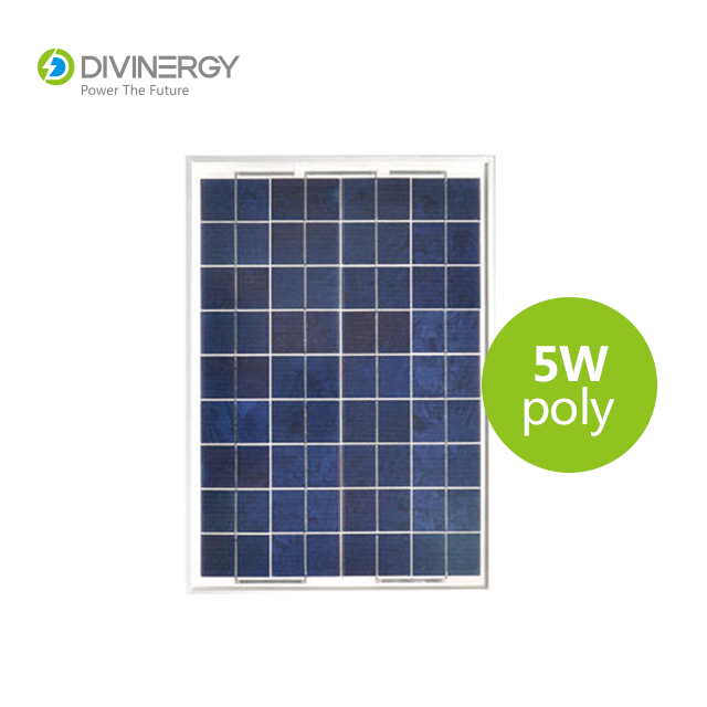 Renewable energy High Efficiency 5W Poly Crystalline Solar Panel