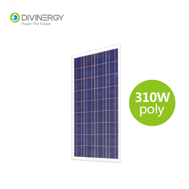 Grade A high efficiency IEC 61215 certified 310W poly solar panel