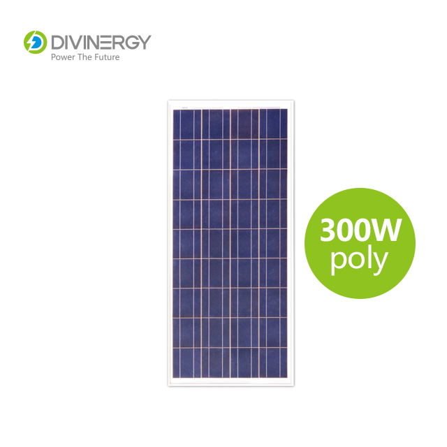 Grade A high efficiency IEC 61730 certified 300W poly solar panel