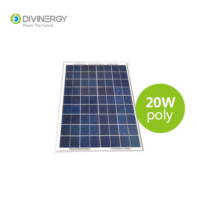 18V high efficiency 20W poly solar panel