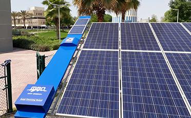 Dubai Municipality installs solar panel cleaning robots